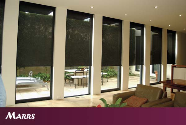 Exterior Motorised Roller Blinds Roman